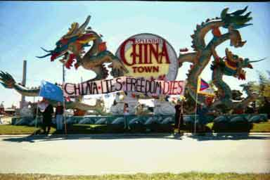 China Lies - Freedom Dies at the Irlo Bronson Hwy entrance